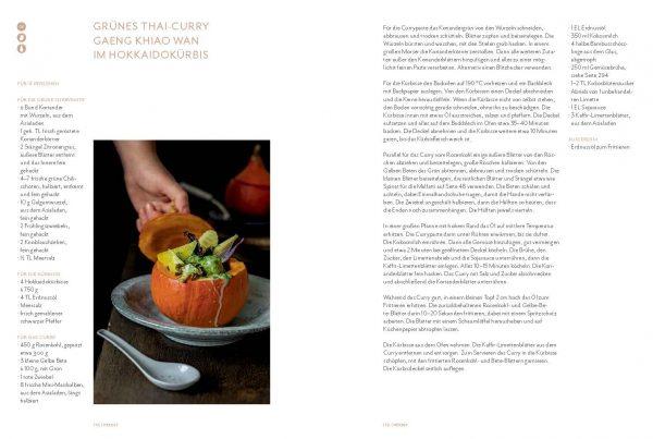 »Die grüne Stadtküche« GRÜNES THAI-CURRY GAENG KHIAO WAN IM HOKKAIDOKÜRBIS, von Claudia Hirschberger, Arne Schmidt