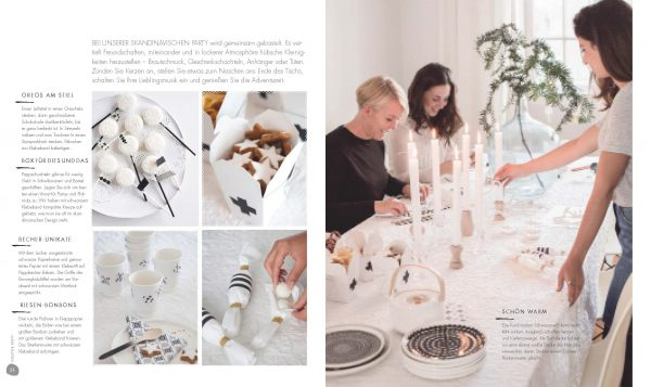 Bilder aus dem Buch von Holly Becker, Leslie Shewring: »Feierlaune«, © DVA.