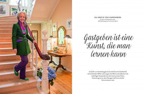 Gastgeberin Isa Gräfin von Hardenberg im Buch »Willkommen bei großartigen Gastgeberinnen« von Manuela von Perfall und Anja Hölper, aus dem Callwey Verlag 2017.