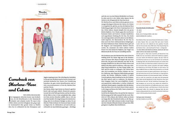 »Vintage Times«, Vintage Times Verlag, Eliane Pfister Lipp.