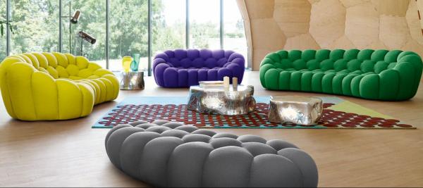 Farben sind wichtig. Wohntrends 2018 vom wohnbuchbüro. Möbel vonRoche Bobois Bubble und silvertree