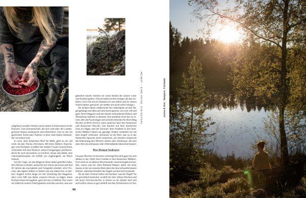 Jonna und Sini, eine Hütte in den Wäldern Finnlands. »Heimat« von Simone Hawlisch, Knesebeck 2019.
