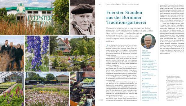 Gärtnerei Foerster Stauden. Karl Foerster in Das grosse Buch der und Gärtner von Anja Birne, Marion Nickig, Callwey 2021